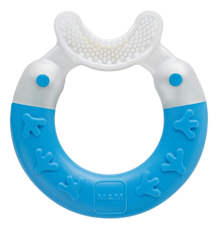 Прорезыватель для зубов Bite & Brush Teether Barbaros Blue 3+