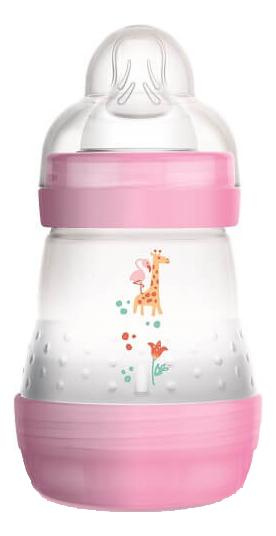 Бутылочка для кормления системой анти-колик и функцией самостерилизации Easy Start Nature Safari 160мл (от 0мес, розовая)