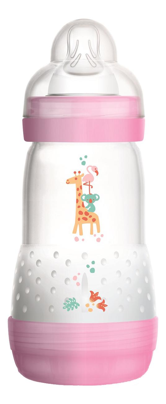 Бутылочка для кормления системой анти-колик и функцией самостерилизации Easy Start 260мл (от 2мес, розовая)