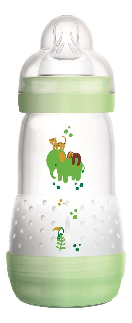 Бутылочка для кормления системой анти-колик и функцией самостерилизации Easy Start 260мл (от 2мес, зеленая)