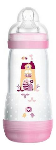 Бутылочка для кормления системой анти-колик и функцией самостерилизации Easy Start 320мл (от 4мес, розовая)