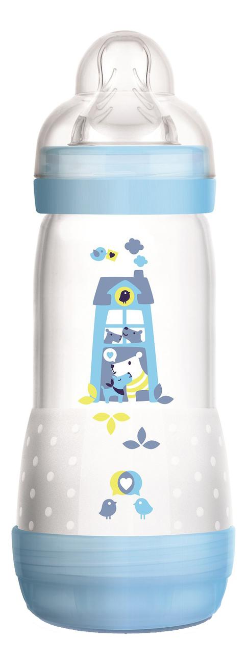 Бутылочка для кормления системой анти-колик и функцией самостерилизации Easy Start 320мл (от 4мес, голубая)