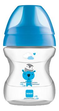 Купить Поильник с мягким носиком Learn To Drink 190мл (от 6мес, голубой), MAM