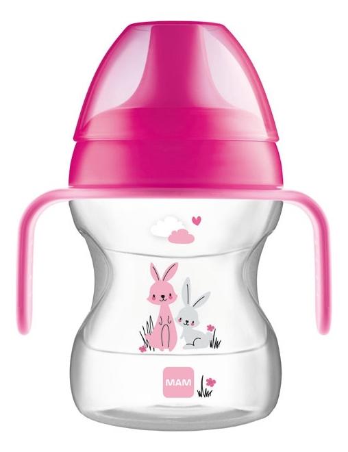 Купить Поильник с мягким носиком Learn To Drink 190мл (от 6мес, розовый), MAM