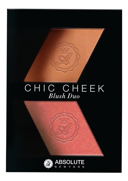 Румяна для лица Chic Cheek Blush Duo 8г: MFBD02 Peach Fuzz Coral Gold