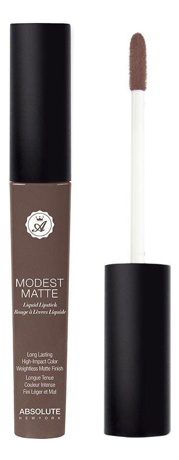 Матовая помада для губ Modest Matte 5мл: Brown