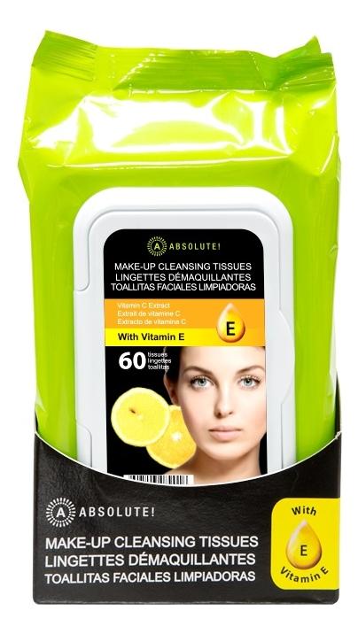 Салфетки для cнятия макияжа Make-Up Cleansing Tissue Vitamin E: 60шт