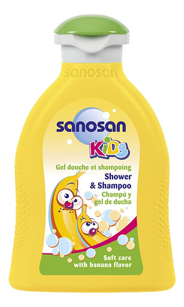 Гель-шампунь для душа с ароматом банана Kids 200мл: Гель-шампунь 200мл недорого