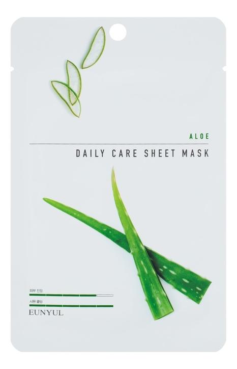 Купить Тканевая маска для лица с экстрактом алоэ Aloe Daily Care Sheet Mask 22г: Маска 3шт, EUNYUL