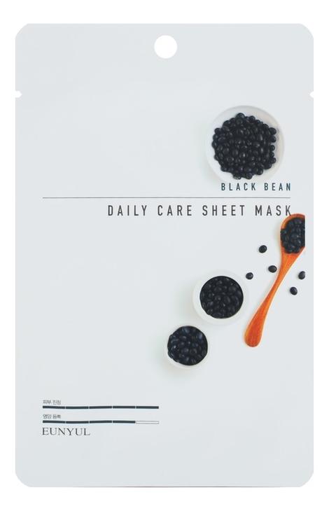 Тканевая маска для лица с экстрактом глициновой сои Black Bean Daily Care Sheet Mask 22г: Маска 3шт тканевая маска для лица с экстрактом чайного дерева eunyul tea tree daily care sheet mask 22g