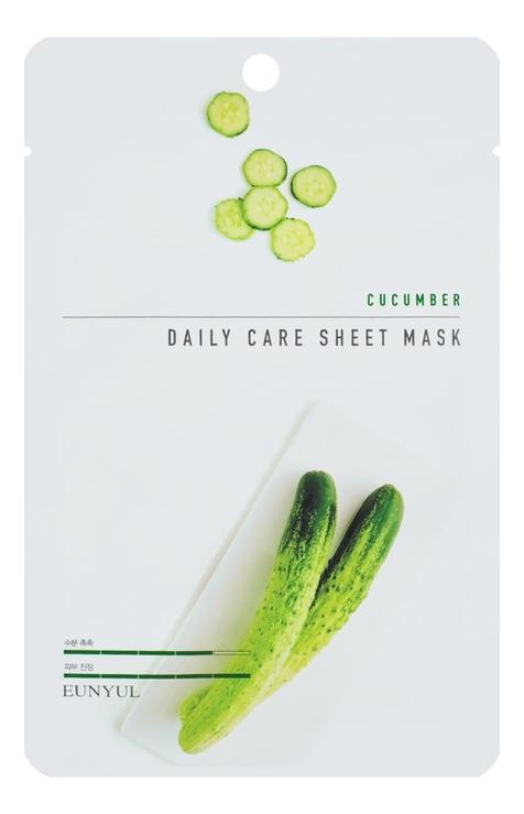 Фото - Тканевая маска для лица с экстрактом огурца Cucumber Daily Care Sheet Mask 22г: Маска 3шт освежающая тканевая маска для лица с экстрактом огурца mask line cucumber sheet 25мл