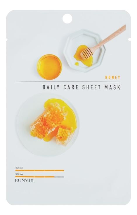Купить Тканевая маска для лица с медом Honey Daily Care Sheet Mask 22г: Маска 3шт, EUNYUL
