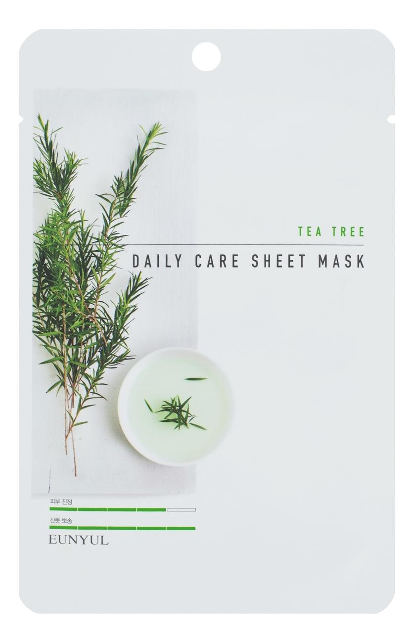 Фото - Тканевая маска для лица с экстрактом чайного дерева Tea Tree Daily Care Sheet Mask 22г: Маска 3шт hask tea tree oil маска укрепляющая с маслом чайного дерева и экстрактом розмарина