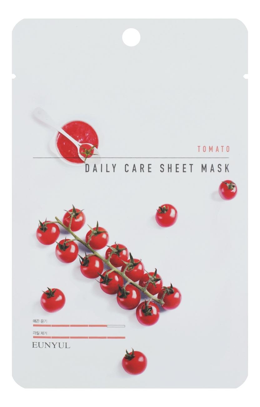 Купить Тканевая маска для лица с экстрактом томата Tomato Daily Care Sheet Mask 22г: Маска 3шт, EUNYUL