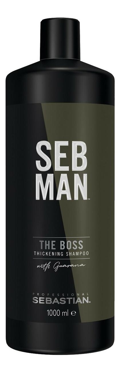 Купить Освежающий шампунь для объема волос Seb Man The Boss Thickening Shampoo: Шампунь 1000мл, Sebastian