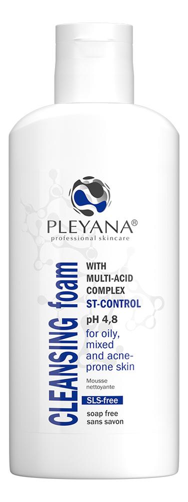 Купить Очищающая пенка для лица с мультикислотным комплексом ST-Control Cleansing Foam: Пенка 170мл, PLEYANA