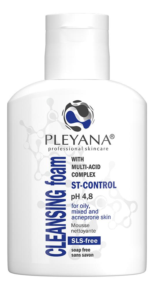 Купить Очищающая пенка для лица с мультикислотным комплексом ST-Control Cleansing Foam: Пенка 75мл, PLEYANA