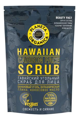 Купить Гавайский угольный скраб для лица Hawaiian Carbon Face Scrub 100мл, Planeta Organica