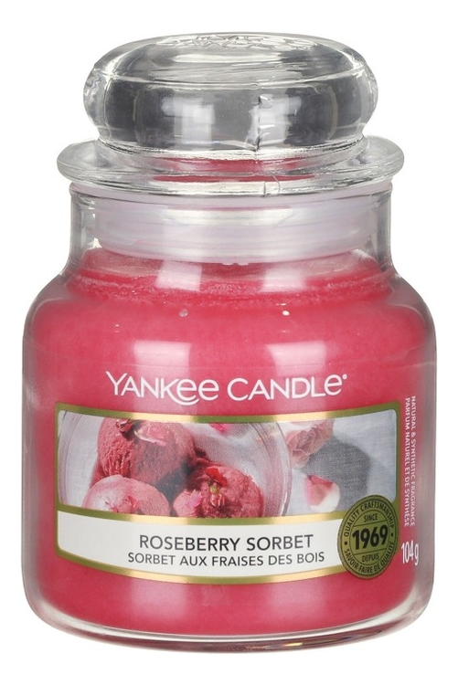 Ароматическая свеча Roseberry Sorbet: Свеча 104г