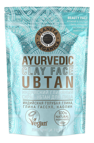 Купить Индийский глиняный скраб-убтан для лица Ayurvedic Clay Face Ubtan 100г, Planeta Organica