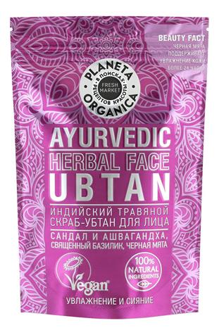Купить Индийский травяной скраб-убтан для лица Ayurvedic Herbal Face Ubtan 100г, Planeta Organica