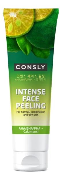Купить Пилинг для лица с AHA, BHA, PHA кислотами Intense Face Peeling With Calamansi 120мл, Consly