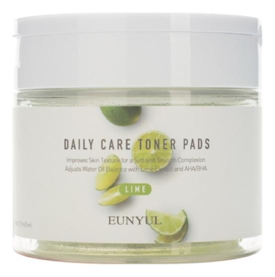Отшелушивающие подушечки с экстрактом лайма Daily Care Lime Toner Pads 70шт