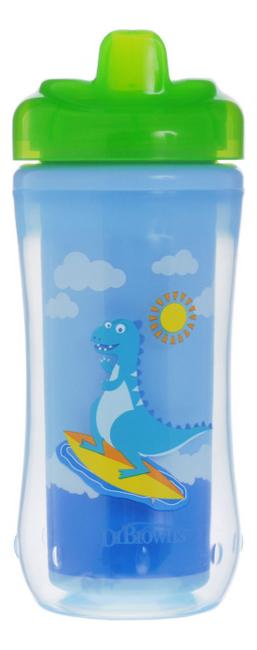 Чашка-термос с твердым носиком Зеленый Динозавр Spoutless Insulated Cup 300мл (от 12 мес, смешанные цвета)