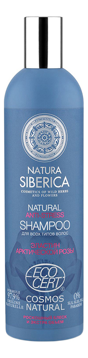 Шампунь для волос Natural Anti-Stress Shampoo: Шампунь 400мл шампунь для уставших и ослабленных волос cosmos natural antioxidant shampoo 400мл