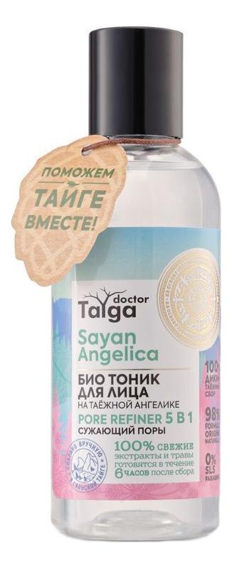 Фото - Био тоник для лица сужающий поры 5 в 1 Doctor Taiga Sayan Angelica 170мл био маска для лица увлажнение и тонус doctor taiga blue clay 100мл