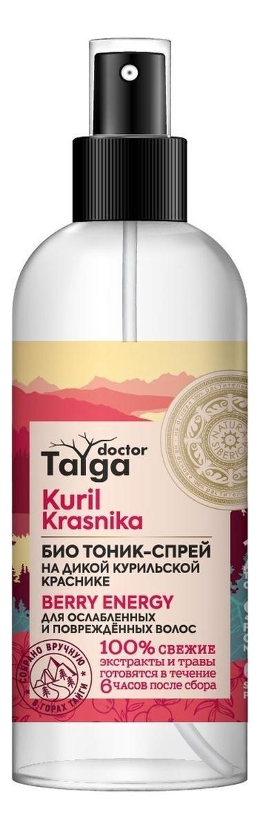 Био тоник-спрей для ослабленных и поврежденных волос Doctor Taiga Kuril Krasnika 170мл цена 2017