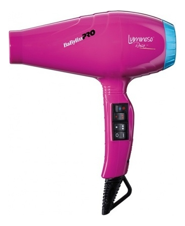 Фен для волос Luminoso Ionic 2100W (2 насадки): Rosa BAB6360IFE