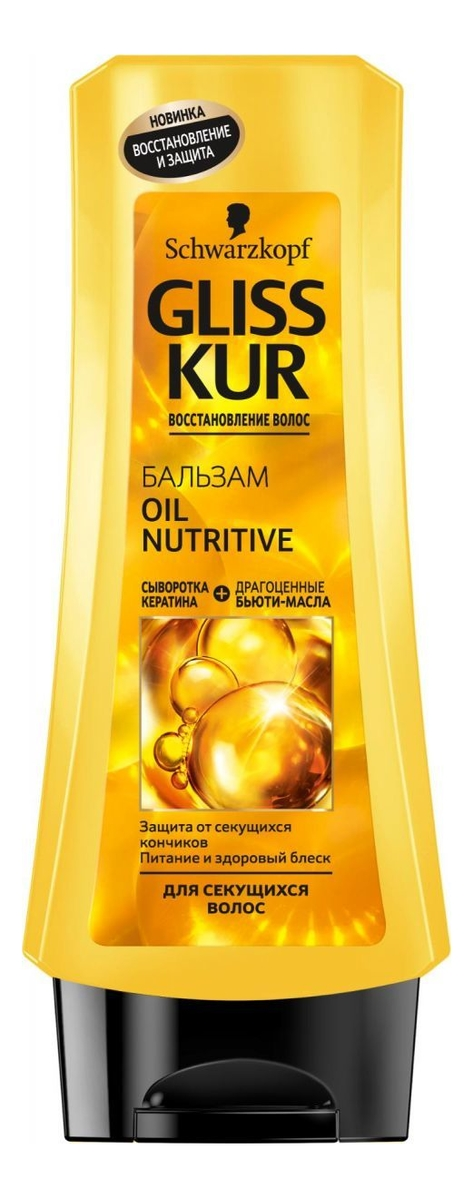 Бальзам для волос Oil Nutritive: Бальзам 200мл gliss kur бальзам oil nutritive 200 мл