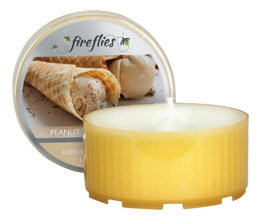 Ароматическая свеча Peanut Butter Sugar (Арахисовое масло с сахаром): свеча в пластиковой гильзе 42г ароматическая свеча cucumber rain огуречный дождь свеча в пластиковой гильзе 42г
