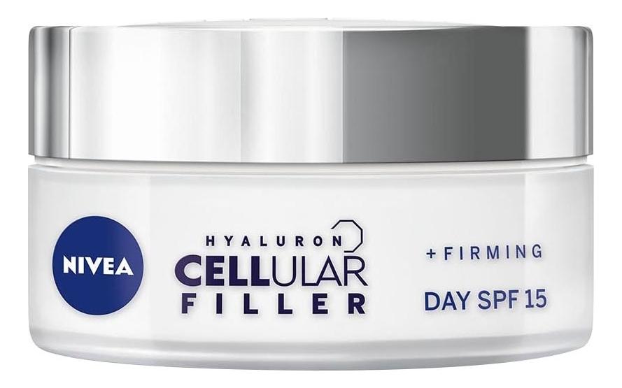 Дневной крем для лица Hyaluron Cellular Filler + Firming Day Cream SPF15 50мл крем nivea hyaluron cellular filler ночной 50 мл
