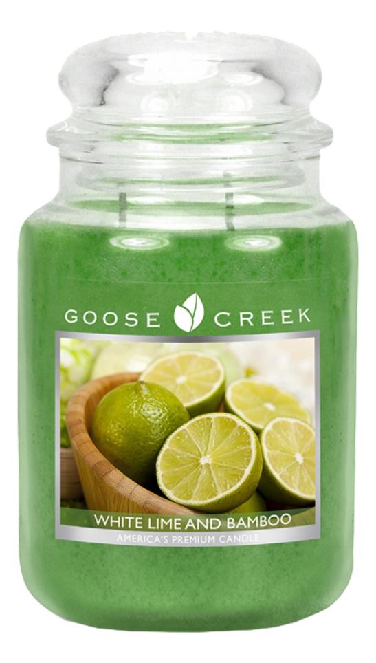 Ароматическая свеча White Lime & Bamboo (Белый лимон и бамбук): свеча 680г лимон taiwan lime
