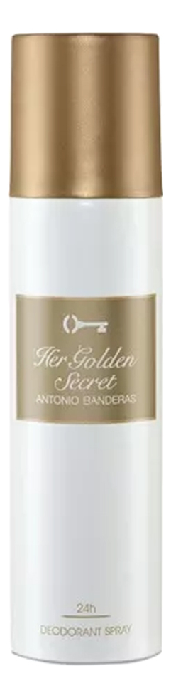 Antonio Banderas Her Golden Secret: дезодорант 150мл antonio banderas the secret дезодорант спрей the secret дезодорант спрей