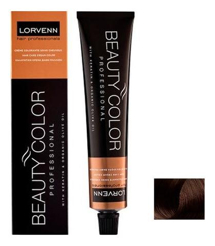 Стойкая крем-краска для волос Beauty Color Professional 70мл: 5.07 Natural Light Brown Coffee