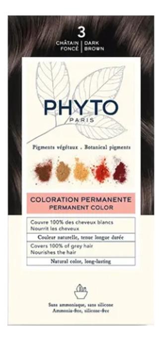 Краска для волос Phyto Color: 3 Темный шатен phyto color 6