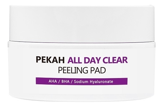 Отшелушивающие пилинг-диски с гиалуроновой и силициловой кислотой All Day Clear Peeling Pad 65мл