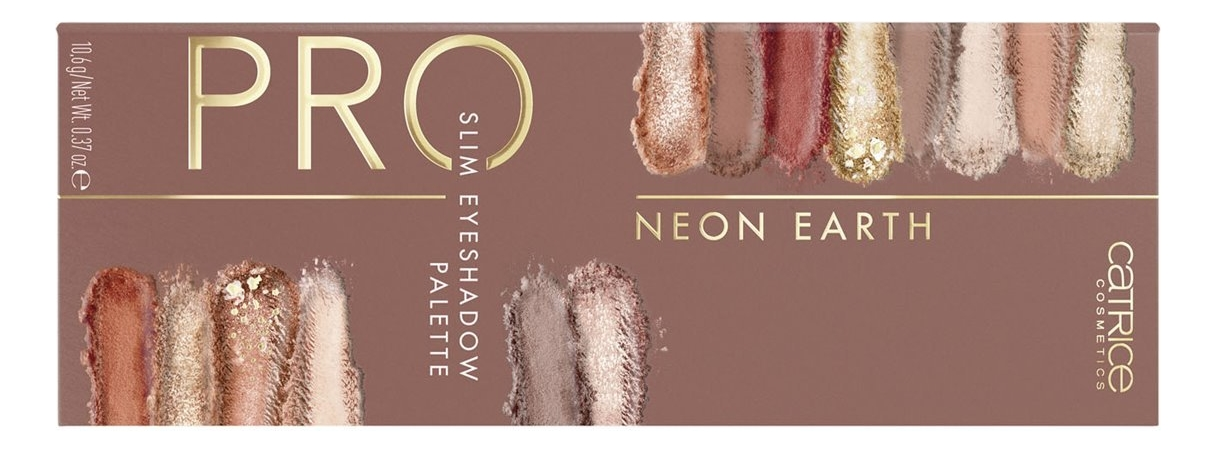 Палетка теней для век Pro Neon Earth Slim Eyeshadow Palette 10,6г недорого