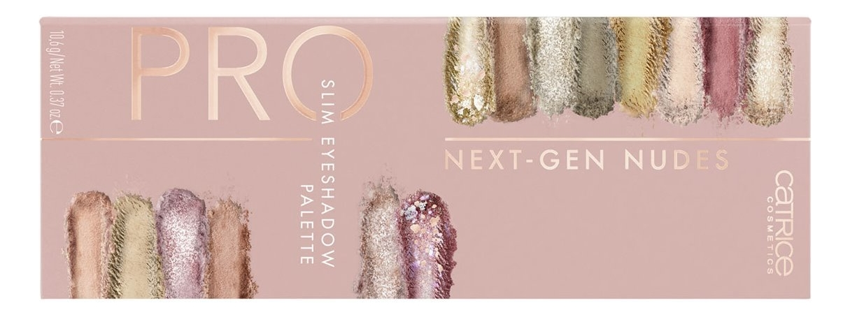 Фото - Палетка теней для век Pro Next-Gen Nudes Slim Eyeshadow Palette 10,6г палетка теней для век 32 eyeshadow palette 20г flawless