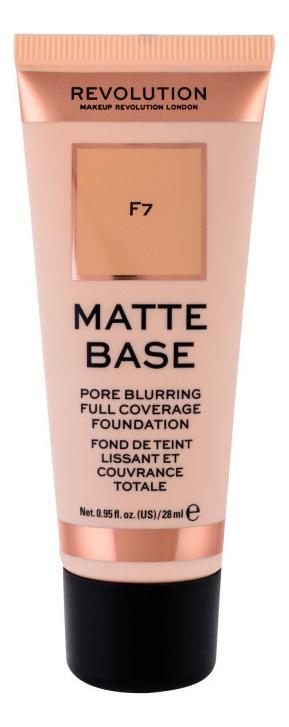 Купить Тональная основа для лица Matte Base 28мл: F7, Makeup Revolution