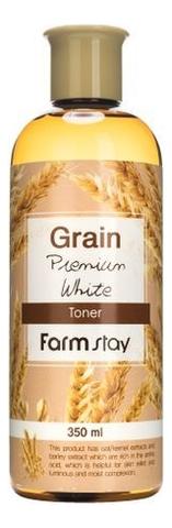 Купить Тонер для лица с маслом ростков пшеницы Grain Premium White Toner 350мл, Farm Stay