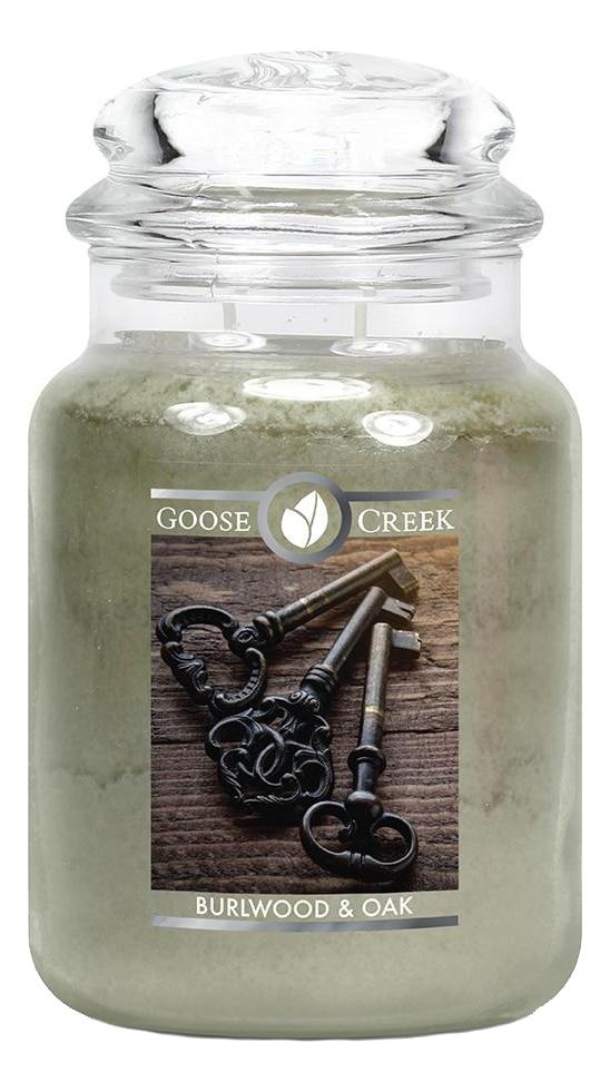 Купить Ароматическая свеча Burlwood & Oak (Древесина и мох): свеча 680г, Ароматическая свеча Burlwood & Oak (Древесина и мох), Goose Creek