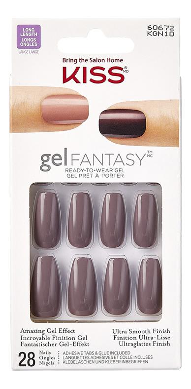 Фото - Накладные ногти Дымчатый топаз Gel Fantasy KGN10C 28шт (с клеем, максимальной длины) накладные ногти калейдоскоп glam fantasy kgf05c 28шт с клеем максимальной длины