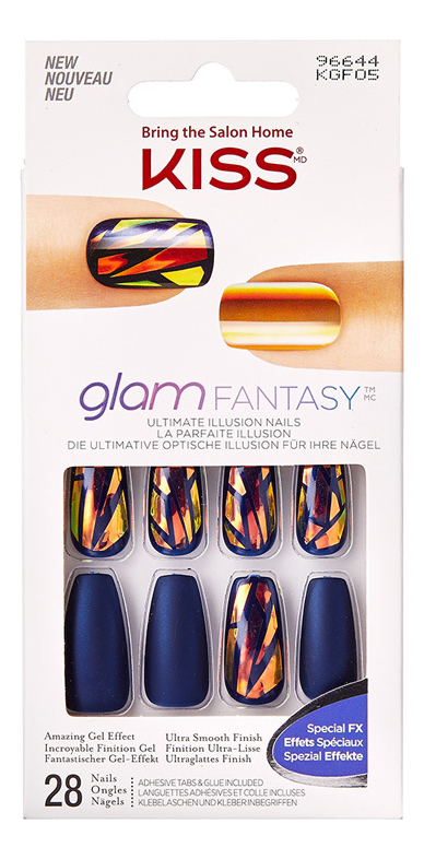 Накладные ногти Калейдоскоп Glam Fantasy KGF05C 28шт (с клеем, максимальной длины) фото