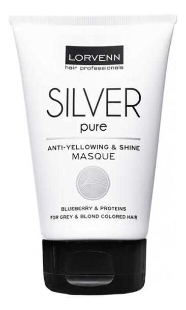 Купить Маска для волос Silver Pure Anti-Yellowing & Shine Masque: Маска 100мл, Маска для волос Silver Pure Anti-Yellowing & Shine Masque, Lorvenn