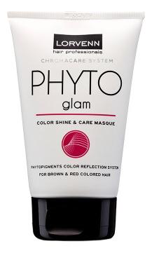 Маска для волос, окрашенных в коричневый и красный цвет Chromacare System Phyto Glam: Маска 100мл phyto phytojoba маска