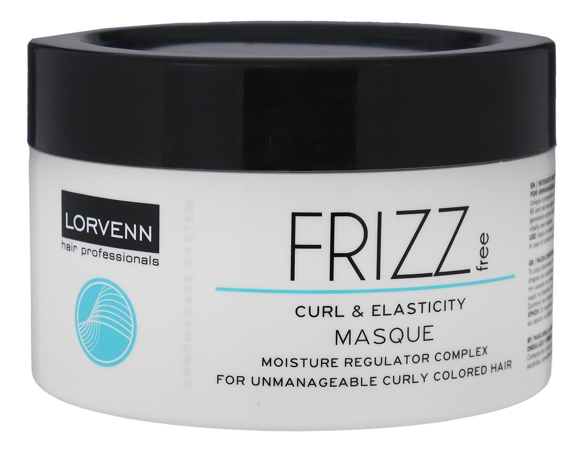 Маска для непослушных, вьющиеся окрашенных волос Chromacare System Frizz Free Curl & Elasticity Masque: 500мл